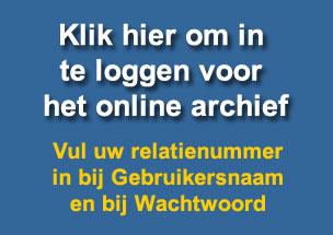 Toegang tot het Online archief
